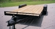 Car Trailer With Wood Deck